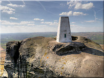 SD9716 : Ordnance Survey Triangulation Pillar at Blackstone Edge by David Dixon