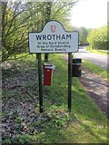 TQ6159 : Wrotham Village Sign by Chris Whippet