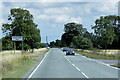 TF1744 : Eastbound A17, Turnoff for Great Hale Fen (Carterplot Road) by David Dixon