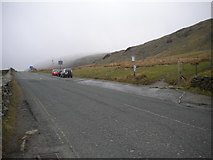 NY4008 : Bus stop at south end of Kirkstone Pass by Richard Vince