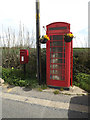 TM1851 : Telephone Box & The Smithy Postbox by Adrian Cable