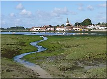 SU8003 : Bosham creek and village across the harbour by Jeff Gogarty