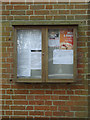 TM1850 : Witnesham Village Hall Notice Board by Adrian Cable