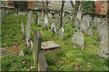 TQ3282 : View of graves in Bunhill Fields #8 by Robert Lamb