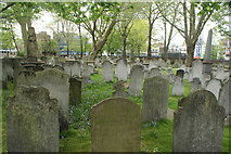 TQ3282 : View of graves in Bunhill Fields #11 by Robert Lamb