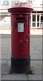 TG5307 : George VI postbox on  Regent Road, Great Yarmouth  by JThomas