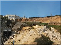 SZ0990 : Bournemouth: top of the East Cliff following a landslip by Chris Downer