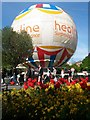 SZ0891 : Bournemouth: tulips and the balloon by Chris Downer