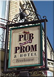 TG5307 : Sign for the Pub on the Prom, Great Yarmouth by JThomas