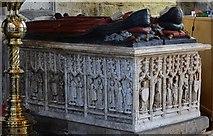 SK3463 : Ashover: All Saints Church: The Babington tomb 4 by Michael Garlick