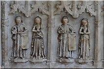 SK3463 : Ashover: All Saints Church: The Babington tomb 5 by Michael Garlick