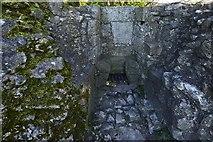 SK1482 : Peveril Castle, Castleton: The garderobe in the west range by Michael Garlick