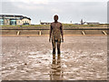 SJ3099 : Antony Gormley Cast Iron Figure, Another Place by David Dixon