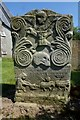 NS3514 : Symbolic Gravestone at Dalrymple by Mary and Angus Hogg