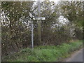 TM1550 : Roadsign on Main Road by Adrian Cable