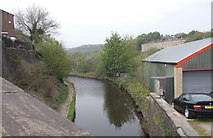 SE1115 : Huddersfield Narrow Canal - viewed from Morley Lane by Betty Longbottom