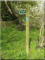 TM1857 : Footpath sign on the footpath to Ipswich Way by Adrian Cable