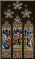 TA1807 : West window, St Edmunds church, Riby by Julian P Guffogg