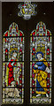 TA1807 : Stained glass window, St Edmund's church, Riby by Julian P Guffogg