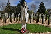 """SK1814 : National Memorial Arboretum: """"Shot at Dawn"""" 2 by Michael Garlick"""