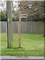 TM1852 : Footpath sign on Church Lane by Adrian Cable
