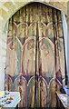 TF0783 : Decorated curtain, St Peter's church, Friesthorpe by Julian P Guffogg