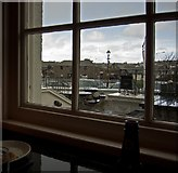SS2006 : Looking at buildings beside the Bude Canal from the Falcon Hotel by Roger A Smith