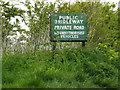 TM1350 : Bridleway sign on the Bridleway to Sandy Lane by Adrian Cable