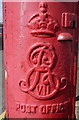 TG5204 : Cypher, Edward VII postbox on Trafalgar Road East, Gorleston-on-Sea by JThomas