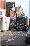 ST3049 : Kwan Yick lorry in High Street, Burnham-on-Sea by Jaggery