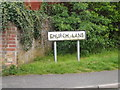 TM1349 : Church Lane sign by Adrian Cable