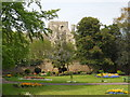 TL1998 : View of St. Peter's Cathedral, Peterborough, from Bishop's Road Gardens by Paul Bryan