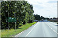 TF2339 : Broken Sign on the A17 near to Swineshead by David Dixon