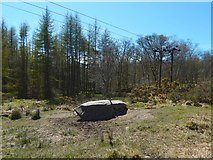 NS2984 : Glennan Burn cup-marked stone by Lairich Rig