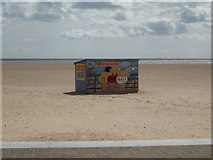 TG5307 : Beach and deckchairs hut, Great Yarmouth by JThomas