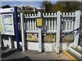 SX4270 : Ceramic tiles at Gunnislake railway station by David Smith