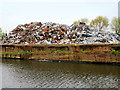 SJ7797 : Scrap Metal  Recycling at Irwell Park Wharf by David Dixon