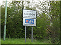 TM1349 : Claydon Village Name sign on Ipswich Road by Adrian Cable