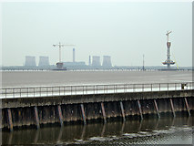 SJ5183 : Barrier between the Ship Canal and the Mersey at Runcorn by David Dixon