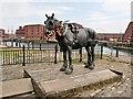 SJ3389 : Waiting, The Liverpool Working Horse at Albert Dock by David Dixon