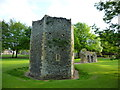 TL8564 : Tower in the Abbey Gardens, Bury St Edmunds by Richard Humphrey