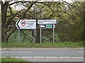 TM1152 : Roadsigns on the B1113 Lower Street by Adrian Cable