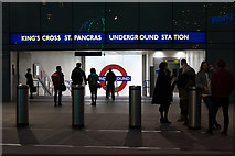 TQ3083 : Entrance to King's Cross & St Pancras Underground Station, London N1 by Christine Matthews