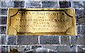 G9270 : Inscribed plaque, St Brigid's Church by Kenneth  Allen