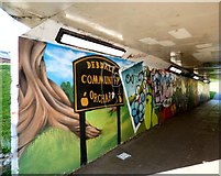 SJ8995 : Debdale Community Orchard Mural by Gerald England