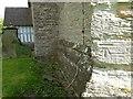 SO7937 : OS cutmark on Castlemorton church by Philip Halling