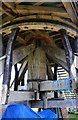 SP7401 : Chinnor post mill - the main support by Chris Allen