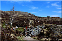 NN2256 : Footbridge over the Allt a' Mhain by Chris Heaton
