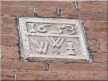 NY6820 : Earlier datestone, Appleby Post Office by Stephen Craven