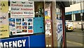 TQ3268 : Destinations, phone cards and trade stickers, Brigstock Road, Thornton Heath by Christopher Hilton